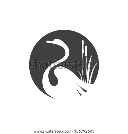 swan icon vector design
