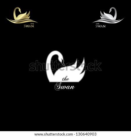 swan labels   vector