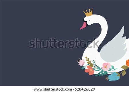 swan lake  illustration