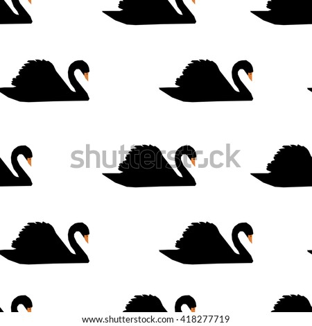 swan on a background pattern