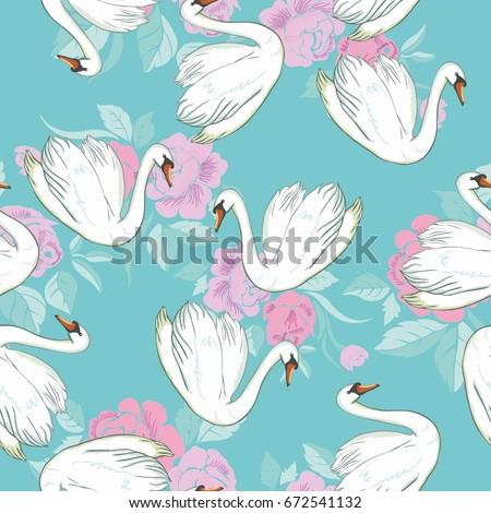 swan pattern  vector