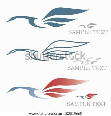 swan symbol   vector