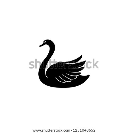 swan vector icon swan sign on