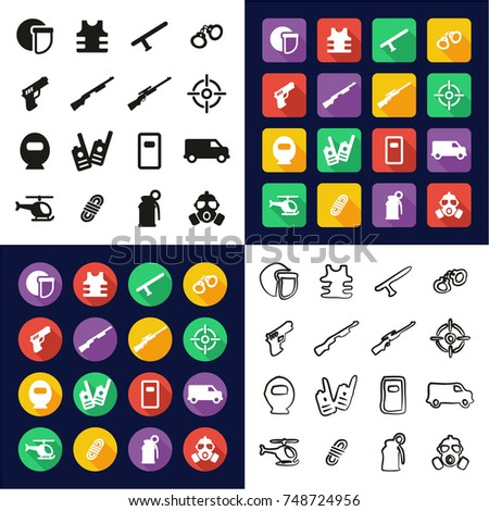 swat all in one icons black