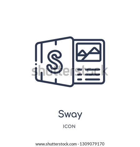sway icon from startup outline collection. Thin line sway icon isolated on white background.