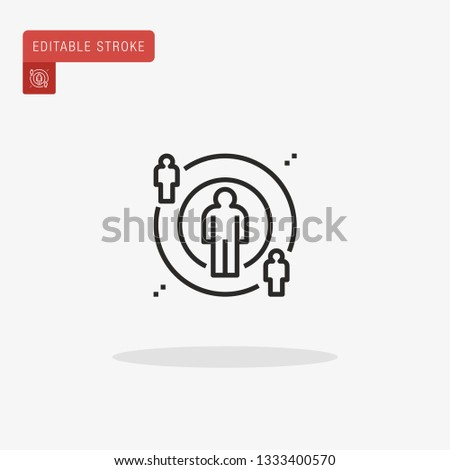 Sway Simple vector icon. Illustration symbol design template for web mobile UI element. Perfect color modern pictogram on editable stroke. Sway icons for your business project