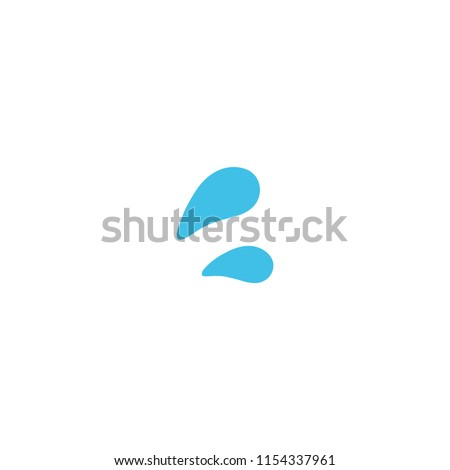 Sweat droplets vector flat icon Photo stock ©