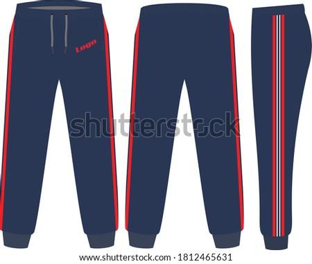 Sweat Pants Mock ups Designs illustration template vectors Stock photo ©