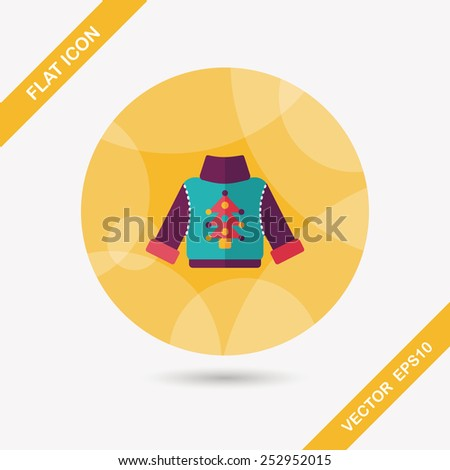 sweater flat icon with long