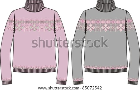 Sweater for knitting ( vector) - stock vector