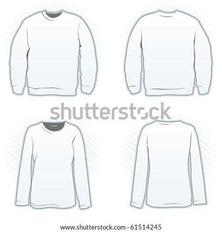 sweatshirt vector template. stock vector : Sweatshirt