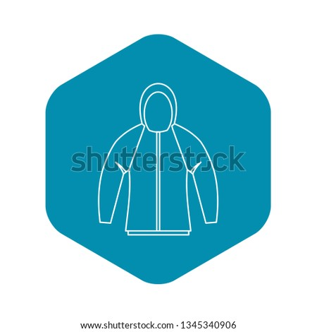 Sweatshirt icon. Outline illustration of sweatshirt vector icon for web