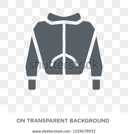 Sweatshirt icon. Sweatshirt design concept from Clothes collection. Simple element vector illustration on transparent background.