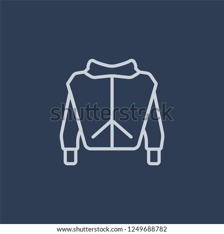 Sweatshirt icon. Sweatshirt linear design concept from Clothes collection. Simple element vector illustration on dark blue background.