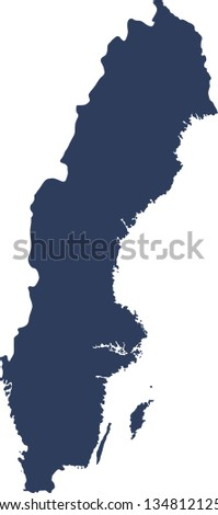 Sweden. A map of Sweden