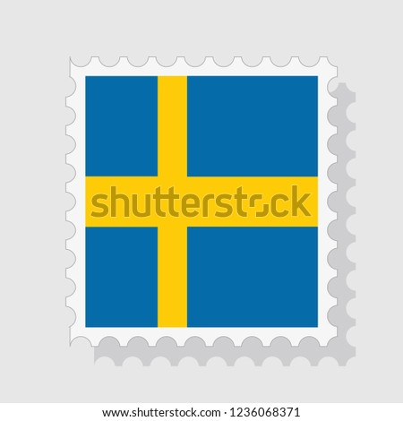 sweden flag postage stamp