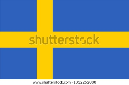 Sweden flag. Simple vector Sweden flag