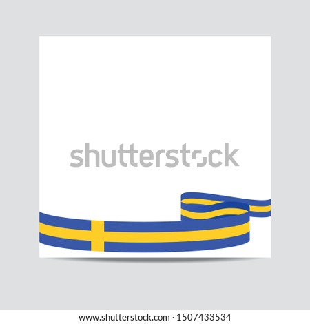 Sweden  flag. Sweden  patriotic banner with space for text. Happy Independent Day. Template of greeting card,