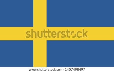 Sweden flag vector icon design
