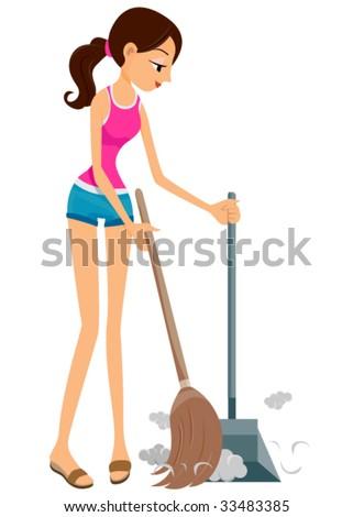 Sweeping - Vector
