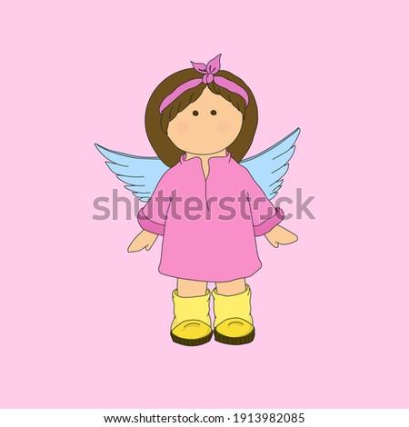 sweet and cute angel gir