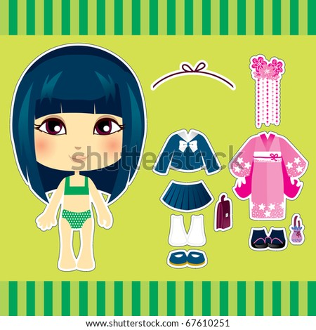 Sweet and cute japanese fashion girl clothes collection set