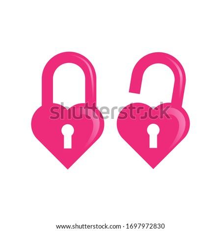 sweet and cute pink love lock