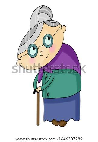 Sweet and kind grandmother kind man