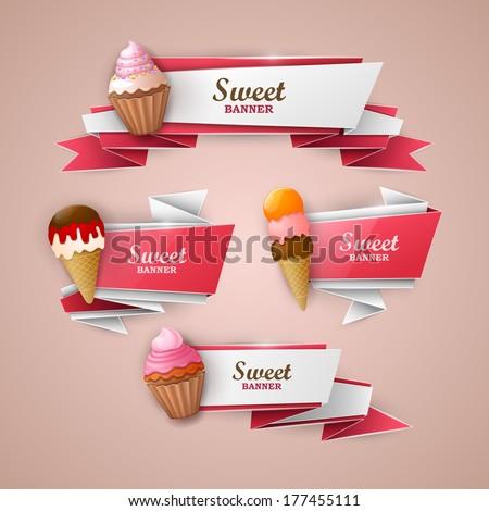 Sweet banners set