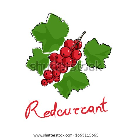 sweet berry redcurrant and text
