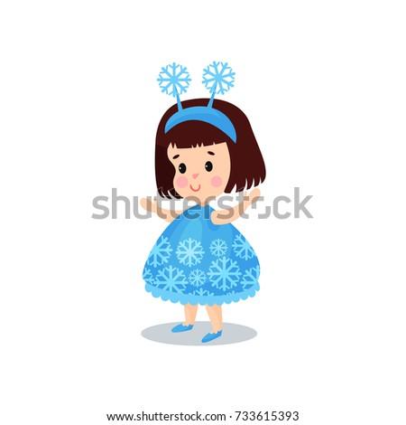 sweet brunette little girl in