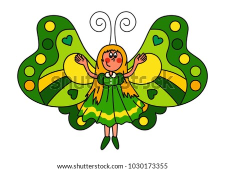 sweet butterfly girl with