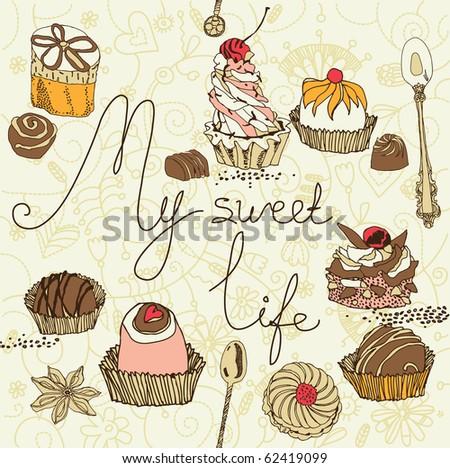 stock vector sweet cake background 62419099 birthday cake illustration vector 8 on birthday cake illustration vector