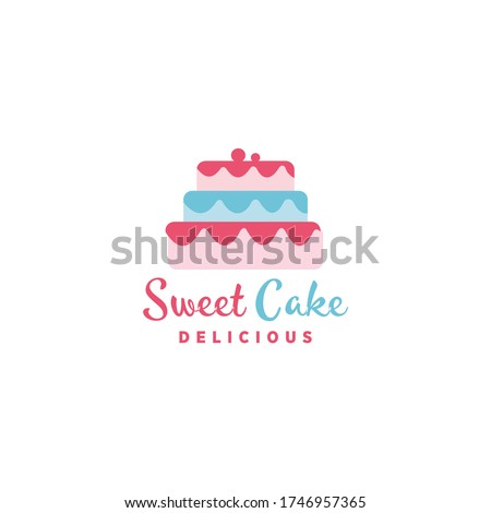 Sweet Cake Logo Vector and Vector, food