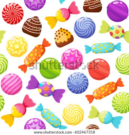 sweet candies seamless pattern