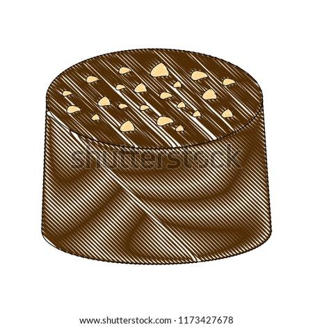 sweet candy chocolate bon bon stuffed