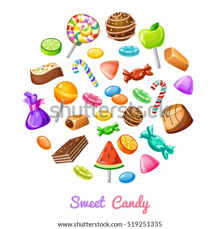 sweet candy composition with