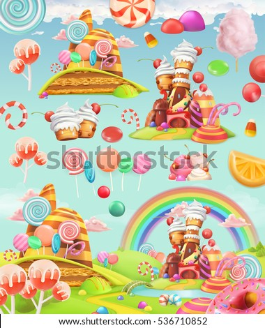 sweet candy land cartoon game
