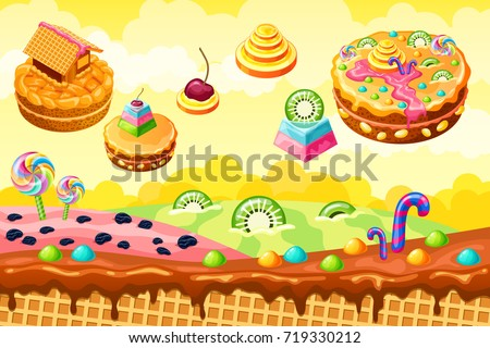 sweet candy land cartoon game