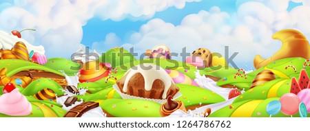 sweet candy land panorama