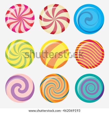 sweet candy  round caramel
