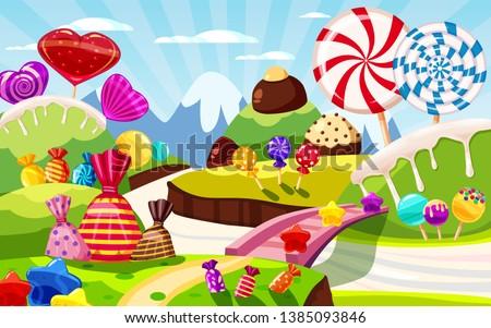 sweet candy world fairy