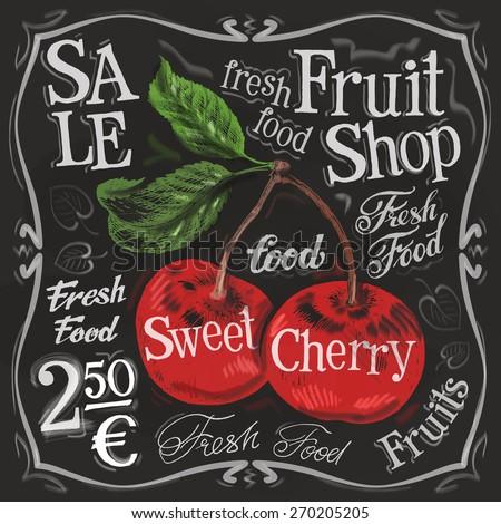 sweet cherry vector logo design