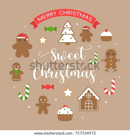 sweet christmas and merry