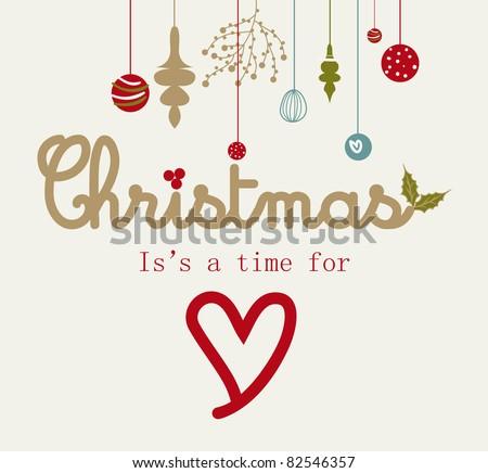 sweet Christmas card - stock vector