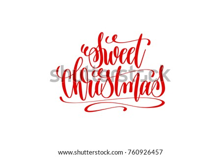 sweet christmas hand lettering