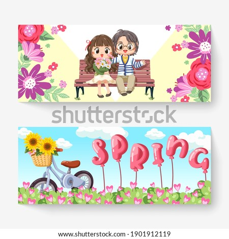 sweet couple sitting on bench