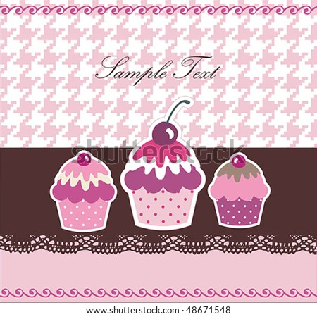 Sweet Cupcake Design or Package Design - stock vector
