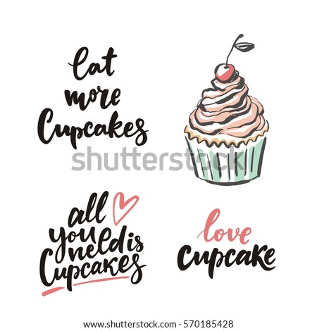 sweet cupcake print lettering