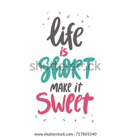 sweet cupcake print. lettering. ...